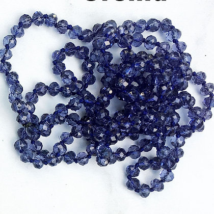 """Orchid 60"""" Hand Knotted Beads"""