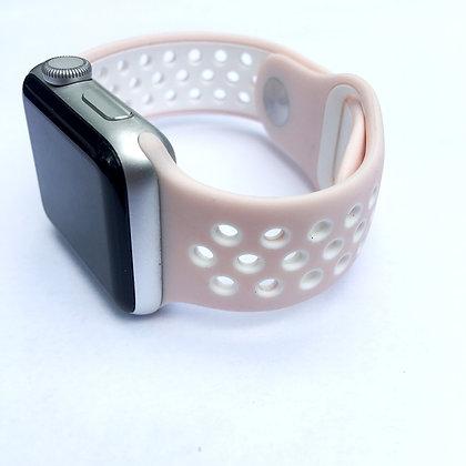 Blush/White Sport Watchband