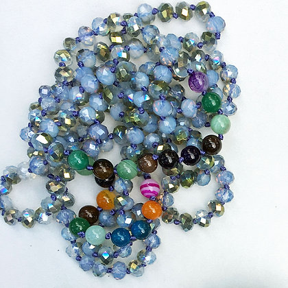"""Multi Color 60"""" Hand Knotted Beads"""