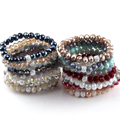 Silver Accent Ball Bracelets