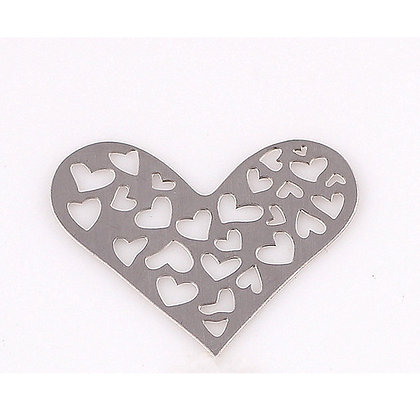 Floating Locket Hearts Heart-Shaped Plate