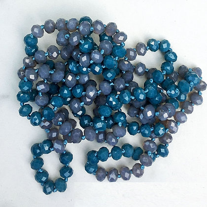 """Blue Lavender 60"""" Hand Knotted Beads"""