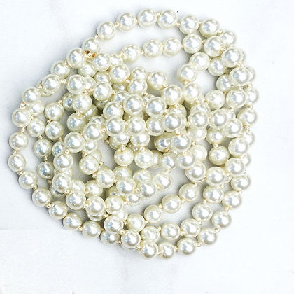 """Faux Pearl 60"""" Hand Knotted Beads"""