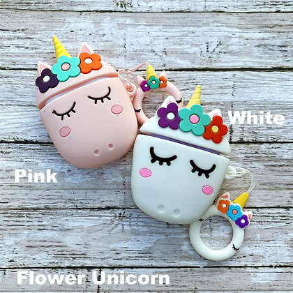 Flower Unicorn Cover for Airpods/Earbuds