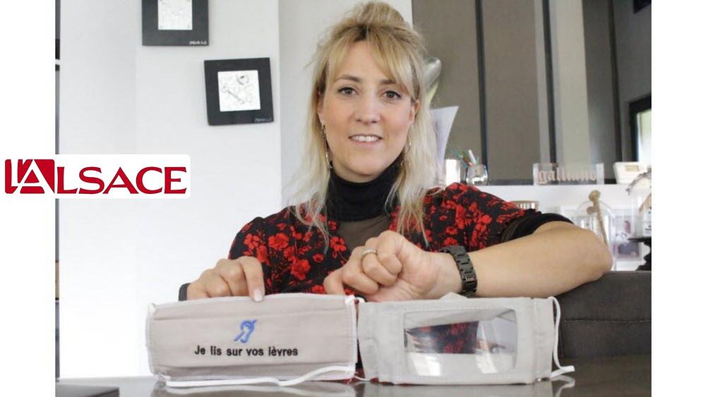 Laure Francesconi-Houche, traductrice en langue des signes. Photo L'Alsace/Vivian MILLET