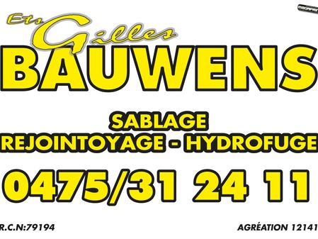 [Sponsors] Un tout grand merci à Gilles Bauwens pour les sponsors!