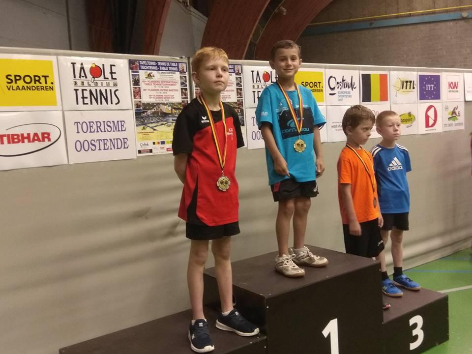 Belle victoire de notre Matt Closset (E6) en serie benjamin au tournoi d'Ostende ! Felicitations a lui et de bonne augure avant le debut de championnat
