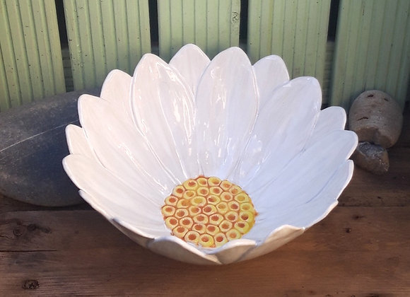 Large White Daisy Bowl
