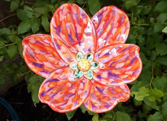 Large Red Speckled Flower