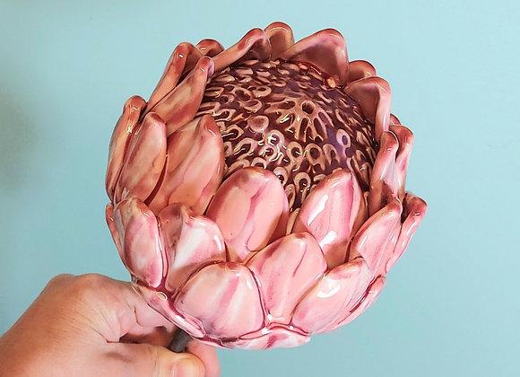 Ceramic Protea Flower. 85 cm tall