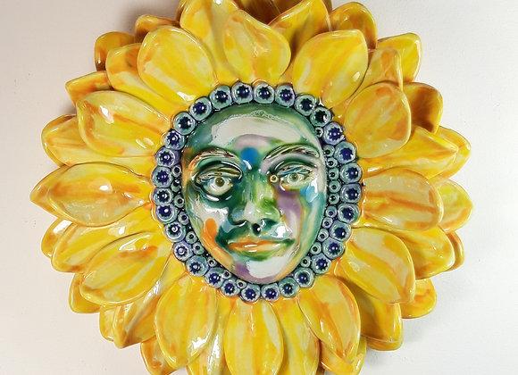 Sunna Godess Hanging Ceramic Sunflower