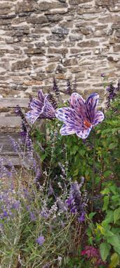 Renee Kilburn Ceramics Nodding Lilies Garden Sculptures at Newark Park National Trust 2020