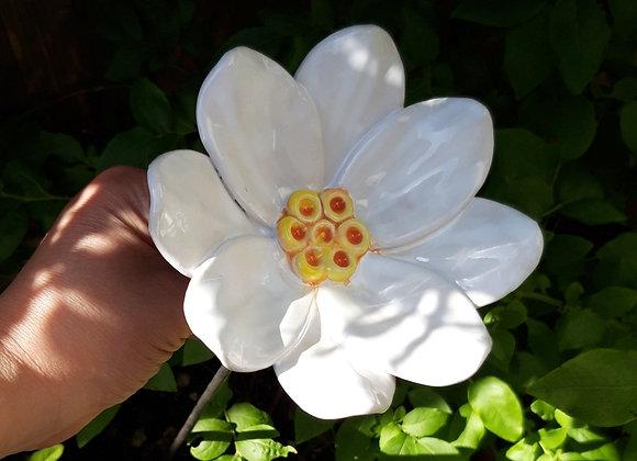 Small White Ceramic Lily