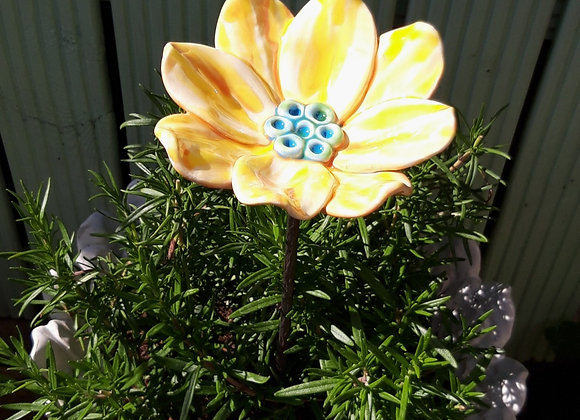 Small Yellow Ceramic Lily