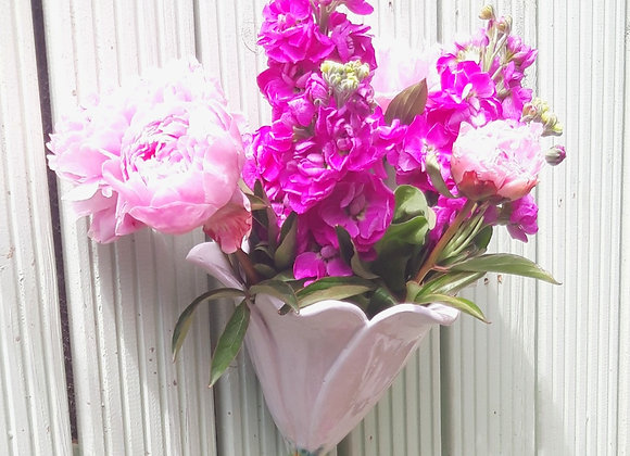 White Flower Wall Vase