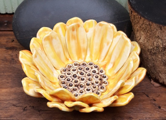 Yellow Sun Flower Bowl