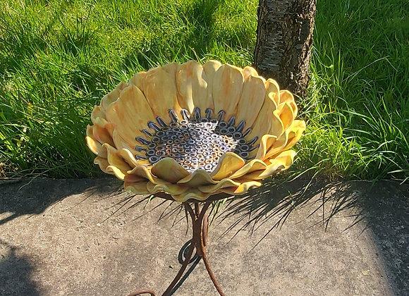 Sun Flower Bird Bath