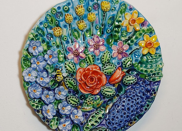 Spring Flowers Wall Plaque 36cm