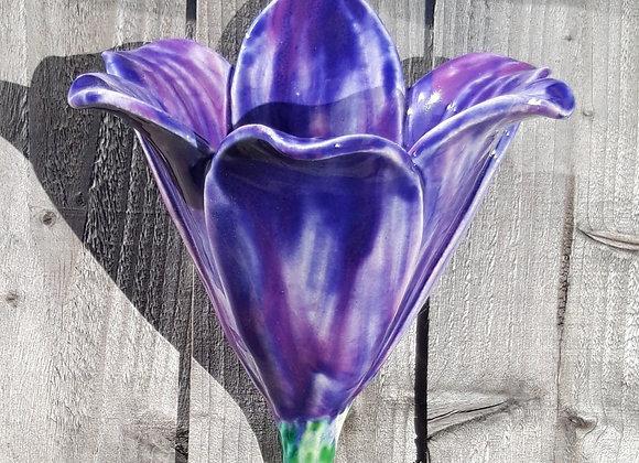 Purple Flower Wall Pocket