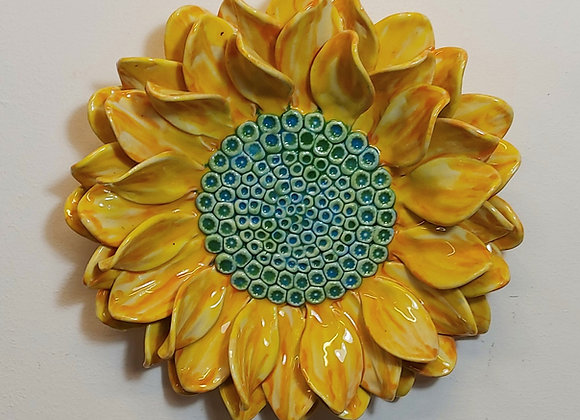 Medium Wall Hanging Sunflower Sculpture 30cm wide