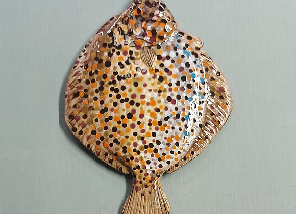 Wall Hanging Flounder, 45 cm long.