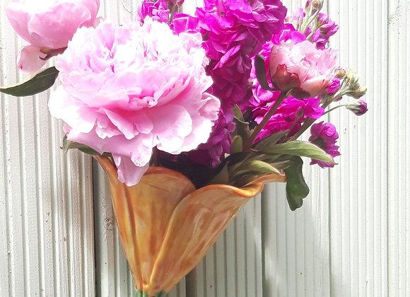 Yellow Flower Wall Vase