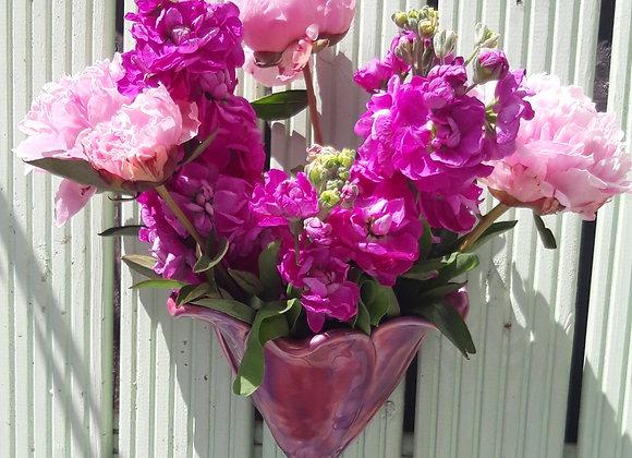 Pink Flower Wall Vase