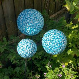 Renee Kilburn Ceramics Blue Allium Flowe
