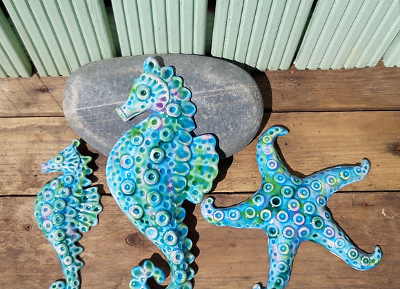Sea Horse and Star Fish Wall Art Collection