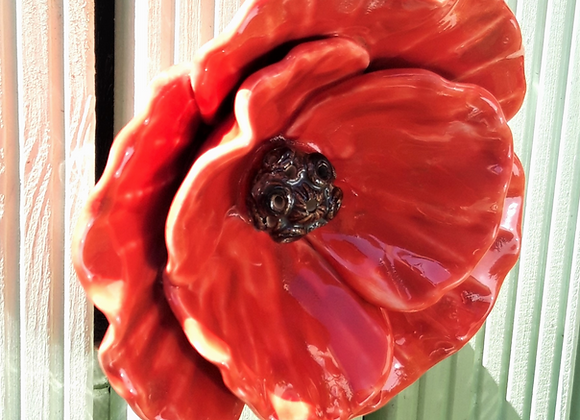 Wall Hanging Red Poppy