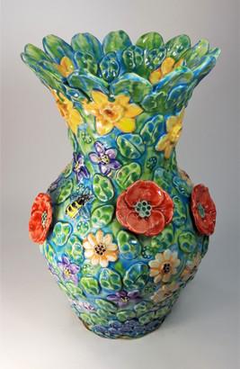 Garden Urn with Poppies.