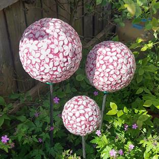 Renee Kilburn Ceramics Pink Allium Flowe