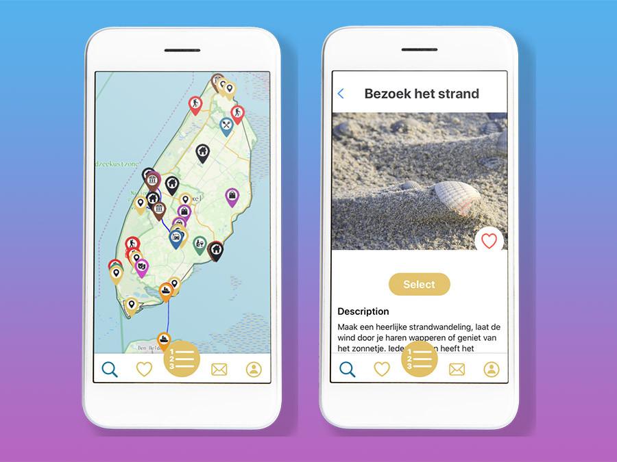 De TexelMap app voor het reserveren van activiteiten op Texel, powered by Super Linda