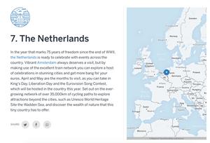Nederland op plaats 7 in Top Countries to visit in 2020