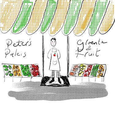 Peter's groentepaleis, de kleine ondernemer die worstelt met online verkopen.