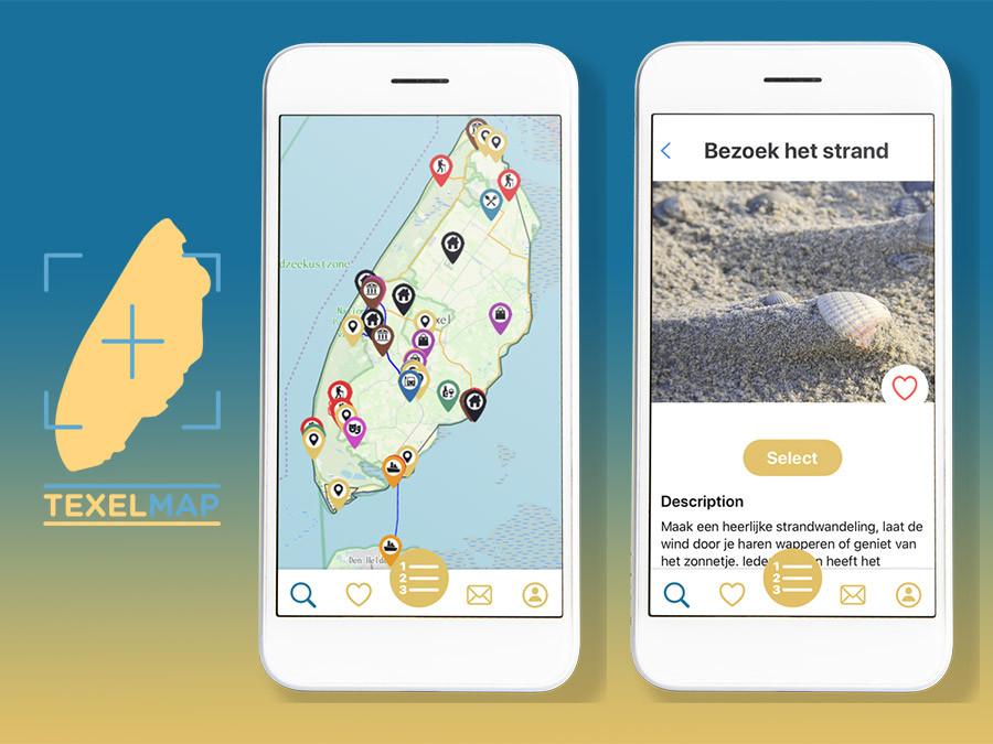 De TexelMap app maakt gebruik van de techniek van het Super Linda-platform.