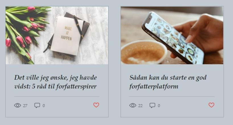 To blogindlæg om at starte med sine bog.