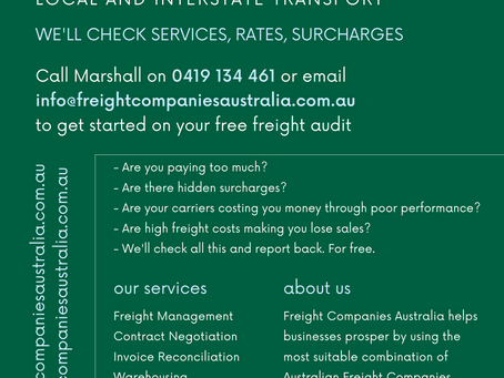 Free Freight Audits Now Available