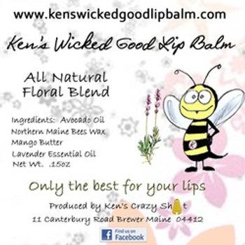 All Natural Floral Lip Balm - Lavender