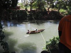 Measuring the Themi River downstream river profile.