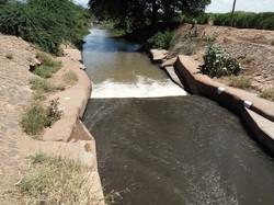Pangani River large intake to sugar cane plantation