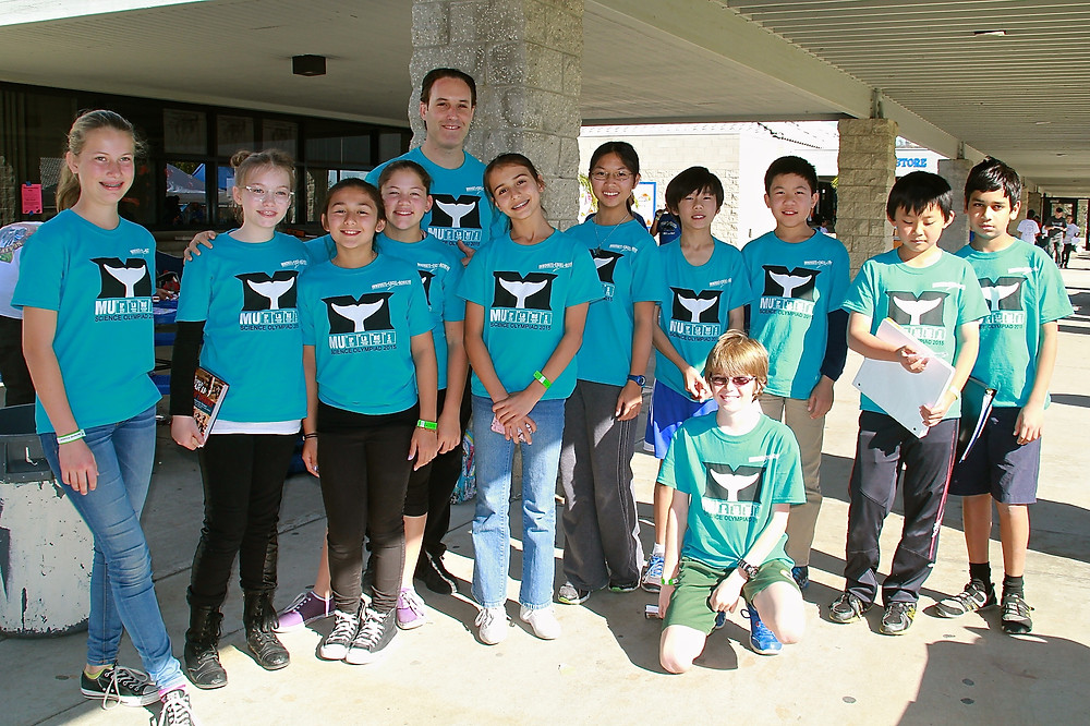 Principal Klein with a some of the Muirlands Participants