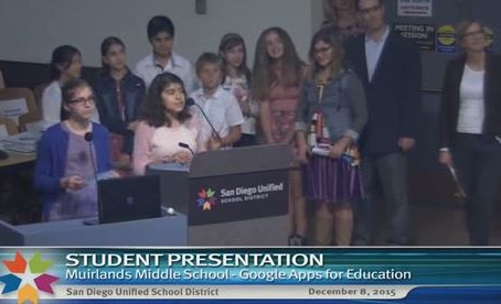 Muirlands Students Present Google Apps
