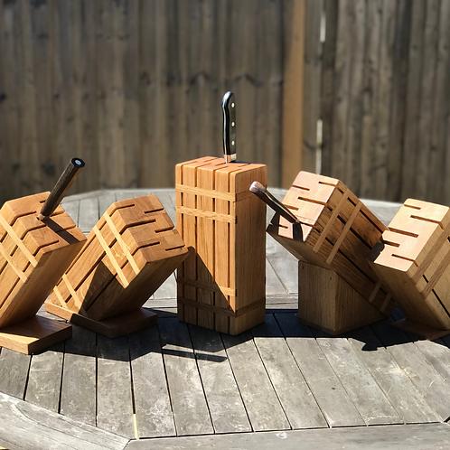 Handmade Knife storage block