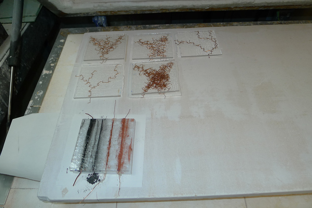 Fusing Copper and Glass in Kiln