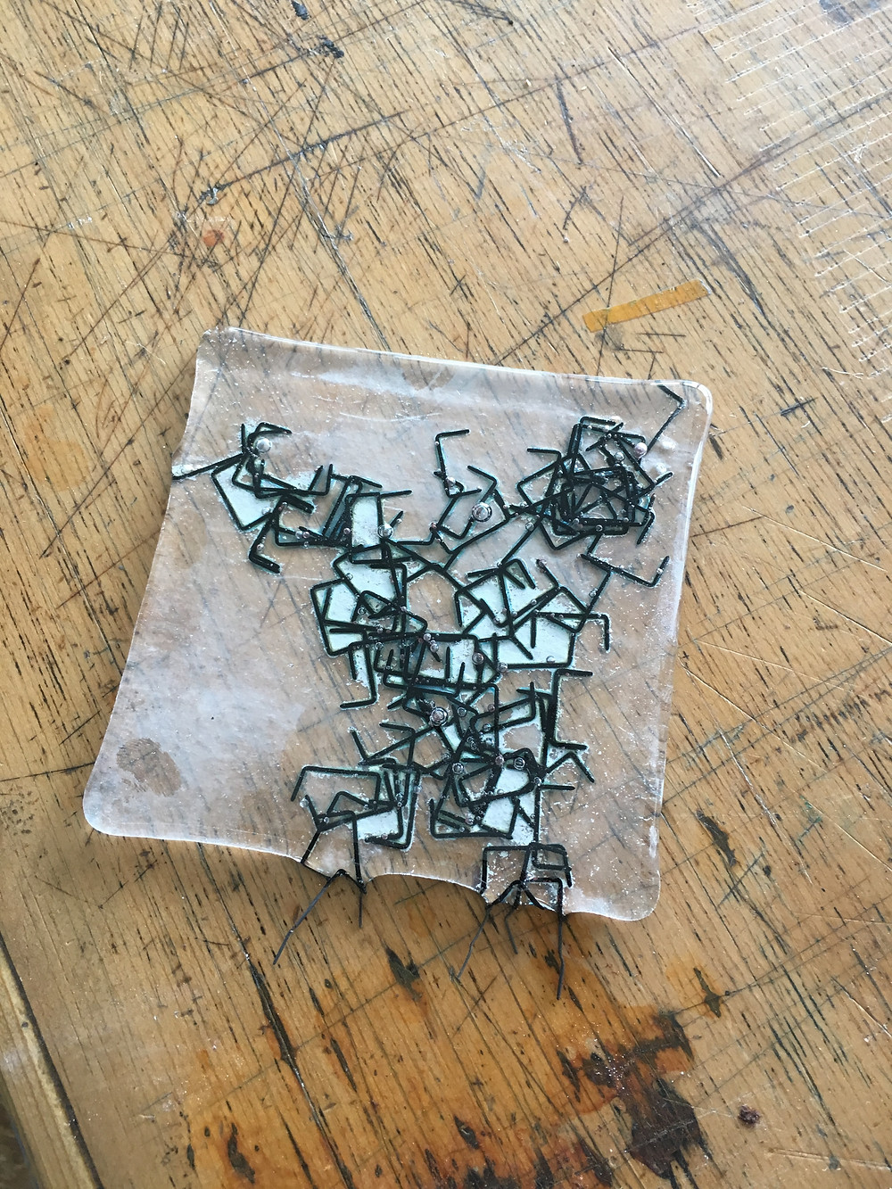 Fused Copper Staples and Glass 3