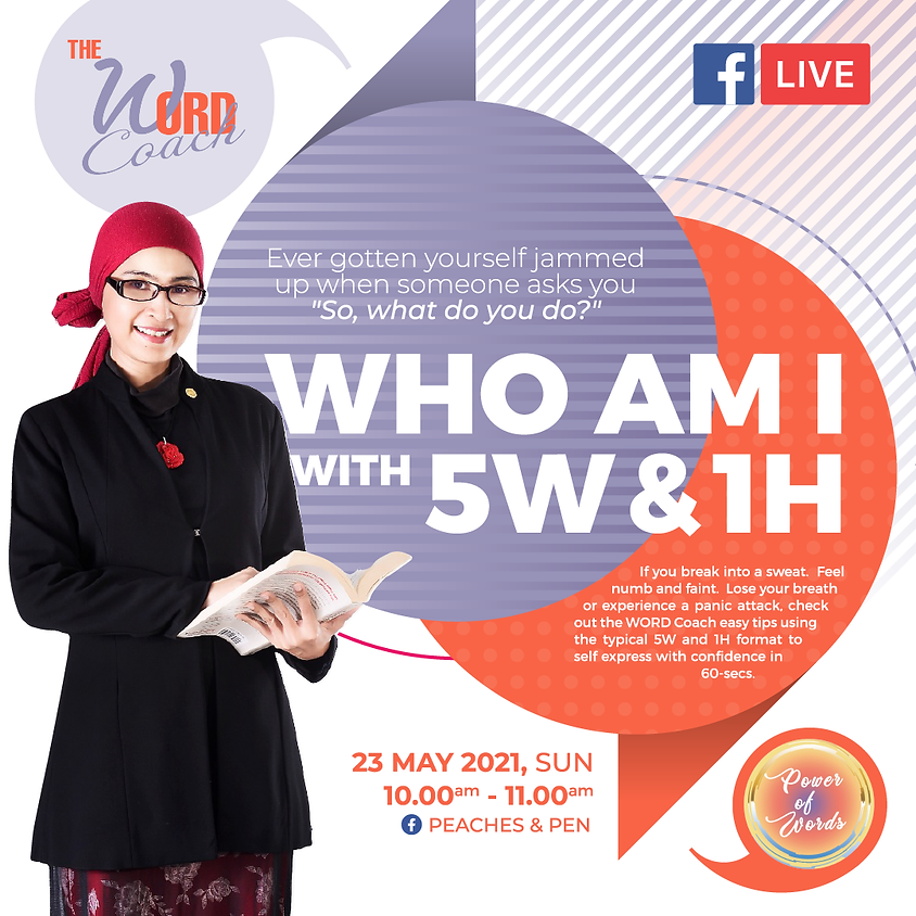 TheWORD Coach - Syireen Rose : Who I am with 5W & 1H