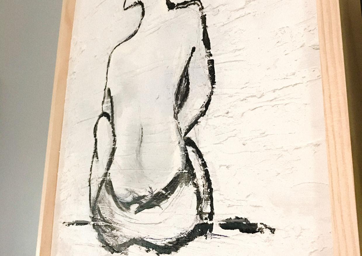 Lady Silhoutte on Plaster