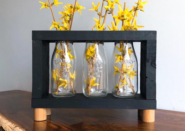 3 Jar Wooden Vase