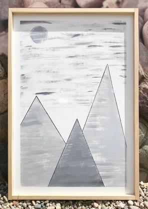 Abstract Mountain Scene